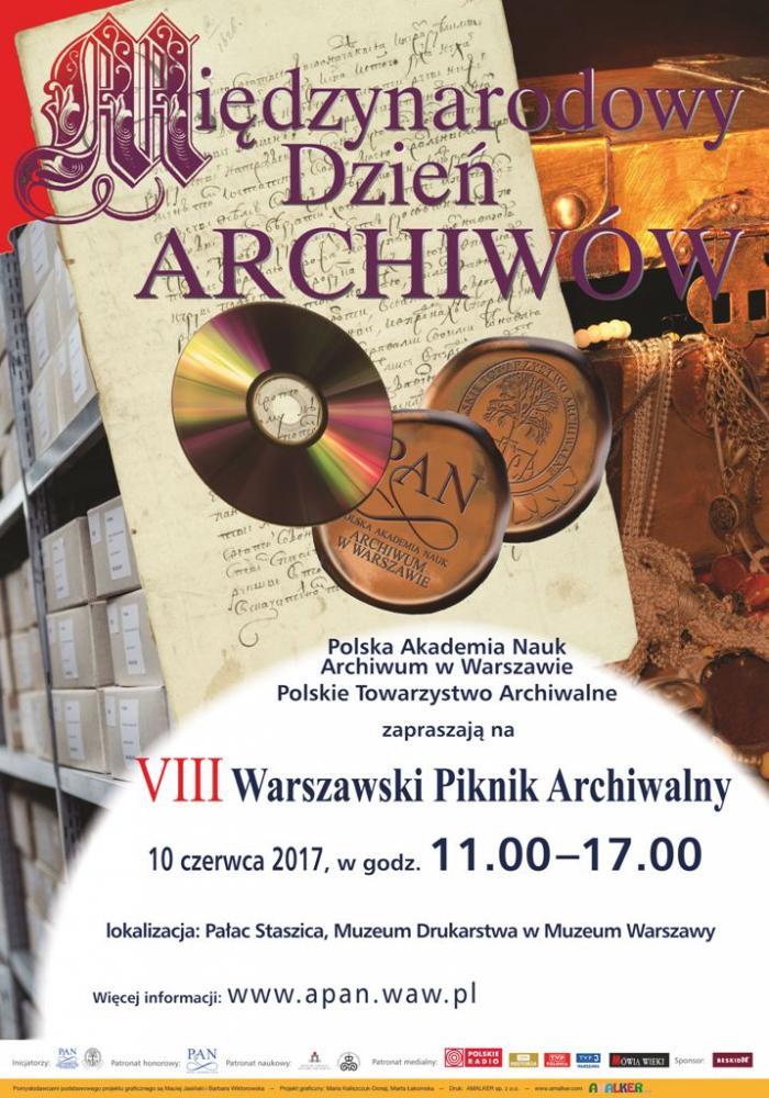 VIII Warszawski Piknik Archiwalny - plakat